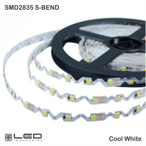 2835 - Cool White - S-Bend - 60 LEDs/m - 4.8W/m