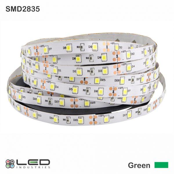 2835 - Green - 60 LEDs/m - 4.8W/m