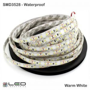 3528 - Warm White - 60 LEDs/m - 4.8W/m - Waterproof