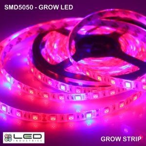 5050 - Grow LED - 60 LEDs/m - 14.4W/m - Waterproof