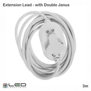 Extension Lead - 3m with double Janus