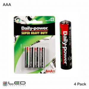Daily Power - Super Heavy Duty - AAA 4 Pack