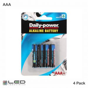 Daily Power - Alkaline Battery - AAA 4 Pack