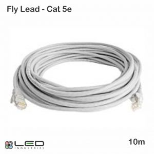 10m UTP Cat5e Cable - Grey 10m Flylead