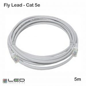5m UTP Cat5e Cable - Grey Fly Lead - Cat 5e - 5 meter - Patch Cable Grey