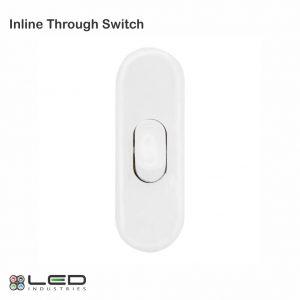 Through Switch White Inline Through Switch