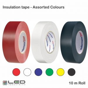 Insulation Tape Red Green Yellow Black White Blue Insulation Tape - Assorted Colours