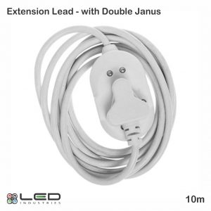 10m Extension Lead with Double Janus