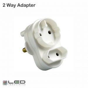 2 Way Adapter - 1 x Shuco; 1 x 2 Pin Euro