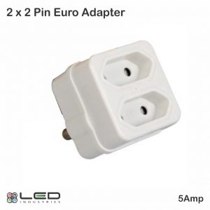 2 x 5Amp 2 Pin Eurodaptor