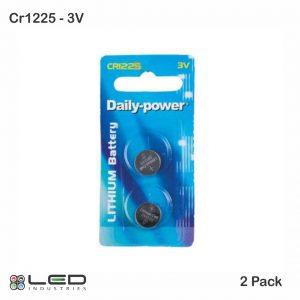 CR1225 - 3V - 2 Pack