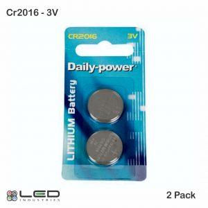 CR2016 - 3V - 2 Pack