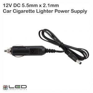 12V DC 5.5mm x 2.1mm Car Cigarette Lighter Power Supply