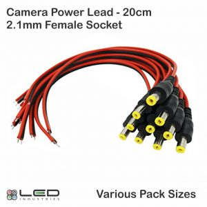 2.1mm Camera Lead - 20cm - Various Pack Sizes