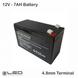 12V 7AH Battery - 4.8mm terminal